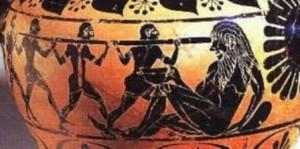 Ulisse e compagni accecano Polifemo